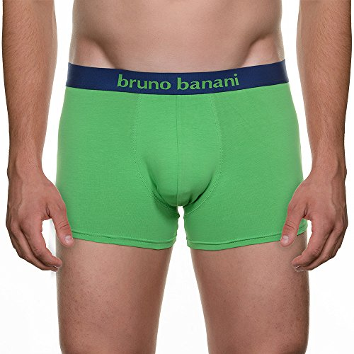 bruno banani Herren Retroshorts 2 Pack Short Flowing Mehrfarbig (grün/royal blau 1821)