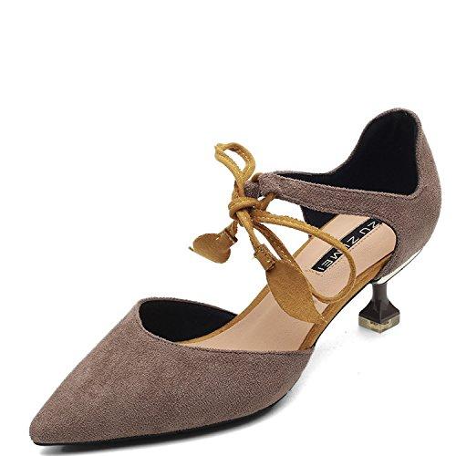 DAZYSK Frauen Schuhe Gurt Baotou Sandalen Weiblichen Sommer Tide Spitze Satin Stitching Farbe Armband mit Katzen. Frauen Flach Sandalen Flip Flop Sommer Schuhe Beach Sandalen für Frauen