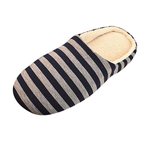 Caldo Dintérieur E Uomini Invernali Donne Marina Antiscivolo Scarpe Strisce Le Pantofole Pantofole Gli 4vnwF7xx
