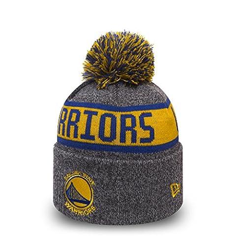 NewEra NBA Marl Knitted Bobble Beanie ~ Golden State Warriors