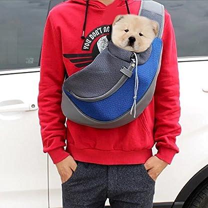 ASOCEA Portable Pet Dog Cat Puppy Carrier Outdoor Sling Carrier Bag Single Shoulder Bag for Small Dog 5