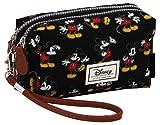 Disney Classic Mickey Moving Kulturtasche, 19 cm, Schwarz (Negro)