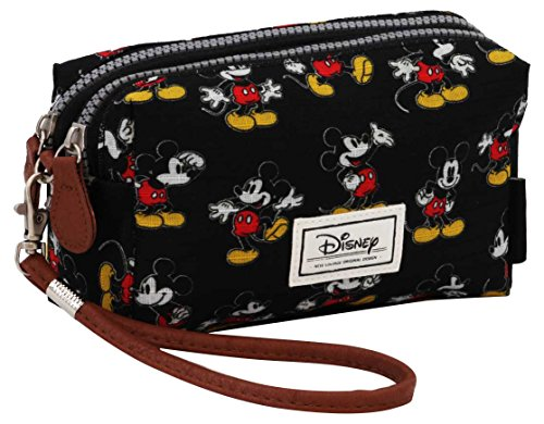 Karactermania Disney Classic Mickey Moving  Bolsas de Aseo, 19 cm, Negro