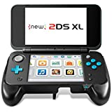 MoKo Compatibile con Nintendo New 2DS XL Grip, Grip Protettivo Antiscivolo con Supporto Accessori Compatibile con Nintendo New 2DS XL/LL (2017) - Nero