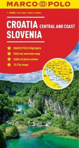 Croatia / Slovenia Marco Polo Map (Marco Polo Maps)