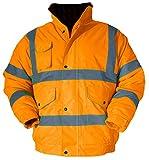 Baratec Herren Arbeitsjacke/Bomberjacke für bessere Sichtbarkeit, Small, Orange