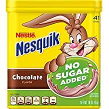 Nesquik Chocolate Powder No Sugar Added, 16 oz