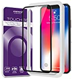 Fosmon iPhone XS/X Screen Protector, [TOUCH 3D] HD Clear Full Coverage Tempered Glass