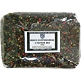Mixed Peppercorns - Five Pepper Mix Whole Peppercorns Containing Black White Green Red Peppercorns and Allspice 500g
