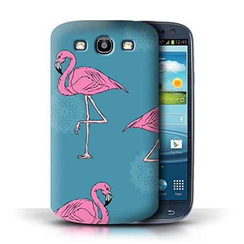 Stuff4® Hülle/Case für Samsung Galaxy S3/SIII/Mandala/Teal Muster/Netter Flamingo Karikatur Kollektion (Case Galaxy Teal Samsung S3)