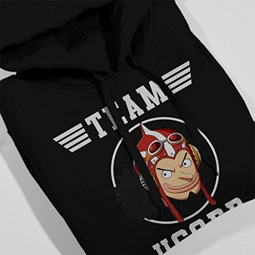 Team Usopp One Piece Women's Hooded Sweatshirt Black