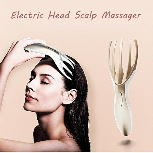 HCFKJ Electric Massager Kopfhaut Kopf Ganzkörper Massage Brush Tool