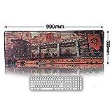 AURORBOY Große Größe Gaming Mauspad Laptop Maus Matten Sperrkante Notebook Mechanische Tastatur Mousepad Für Welt 900X300Mm