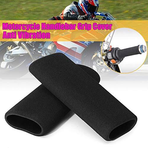 h-Griff-Abdeckung für Motorrad-Lenker, Schaumstoff, Antivibration, komfortabel, 2 Stück ()