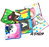 #3: A'SHOP Super Luxury Super Soft Towel Colorful Printed Handkerchief with different Cartoons for Kids, Girls, Women(Pack of 6)