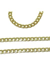 848449733bc3 Cadena de Oro Amarillo de 18k para Hombre Tipo barbada de 60cm de Larga y  3mm