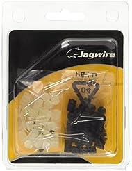 Jagwire Cable Donuts - Protectores para cable de freno y cambio (30 unidades), color negro y transparente