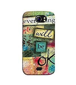 Fuson everything will be ok theme Designer Back Case Cover forMicromax Canvas 2 A110Q :: Micromax A110Q Canvas 2 Plus :: Micromax Canvas 2 A110-3DQ-1018