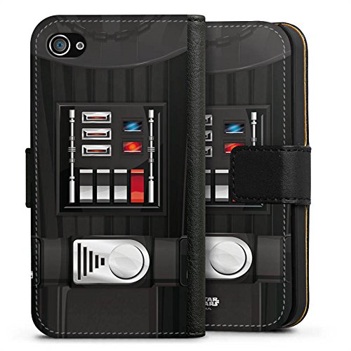 Apple iPhone X Silikon Hülle Case Schutzhülle Star Wars Merchandise Fanartikel Darth Vader Sideflip Tasche schwarz