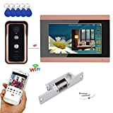 LGFB 7 Zoll verdrahtete drahtlose WiFi RFID-Videotürsprechanlage-Türklingel-Wechselsprechanlage mit Kamera des Türöffner-Verschluss-AHD 720P