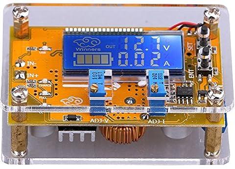 Yeeco DC-DC Adjustable 6-32V to 1.5-32V Buck Voltage Converter Stabilizer Step Down Voltage Reducer Regulator Power Supply Module with Protective Shell USB Output Constant Volt Amp 6V 12V 24V Dual Voltage Ampere LCD Display for LED Driver