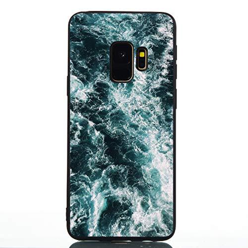 Transparent Durchsichtige Gel für Samsung S9 Plus,Kristal Klar Clear Colorful Cartoon Bumper Crystal Kreativ Niedliche Silikon Schutzhülle Soft Ultra Dünn Bling Glitter TPU Gummi Hülle