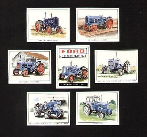 FORD et Fordson voiture Art Trading Cards–50006Y Coeur/brouillon ploughmaster 65Ford 50006x New Performance Super Dexta Super Major Gène E1A New Major e27m Major
