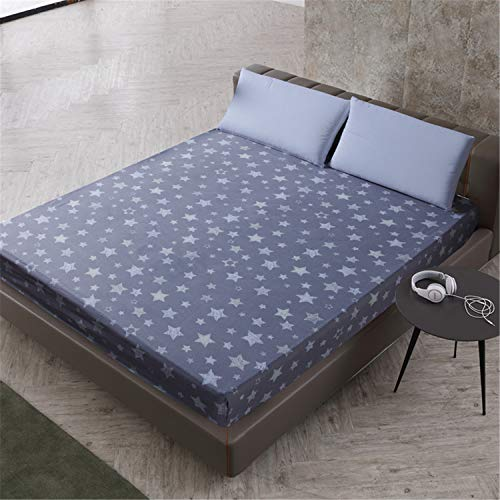 JUNDY Protector de colchón Punto Impermeable y Transpirable Cubierta con Estampado de Dibujos Animados 11 90X200 + 25cm