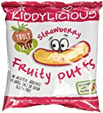 Kiddylicious Strawberry Fruity Puffs 10 g (Pack of 6)
