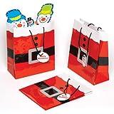 Baker Ross Sacchetti Regalo a Tema Babbo Natale. Perfetti per Feste, premi estrazioni e Regali di Natale per Bambini (Confezione da 6)