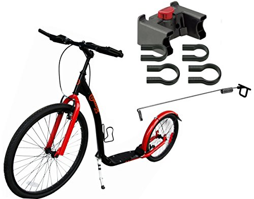 Dogscooter Hunderoller Scooter Master 26/20 Zoll Dog Scooter inkl. Halterung und Antenne rot
