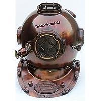 Thor Strumenti.Co Vintage Diving Divers Casco in ferro e ottone anticato 18
