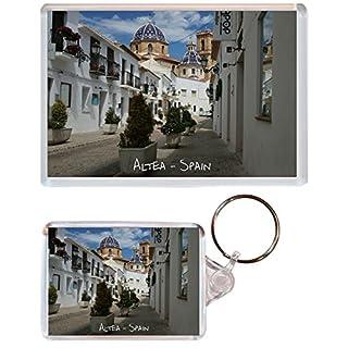 Altea - Costa Blanca - Spain - 1 x Jumbo Fridge Magnet & 1 x Double Sided Large Keyring - Present Gift Souvenir