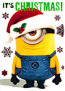 Despicable Me - Minion Phil - Christmas card - CH0060: Amazon.co.uk: Office P...