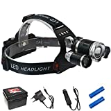 Generic Cold White, Gold : Top Quality LED Headlamps Ultra Bright 8000 Lumens