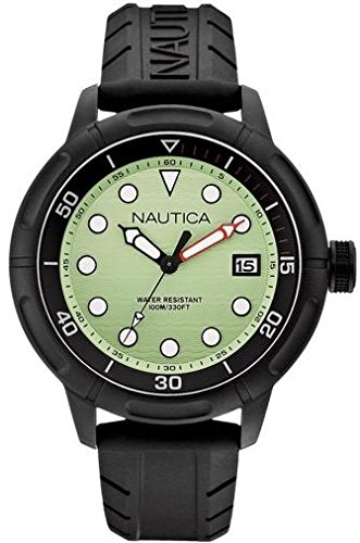 Nautica A17618G 49mm Stainless Steel Case Plastic Mineral Men's & Women's Watch