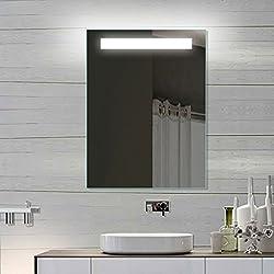LED de pared para baño espejo del baño espejo con luz 60 x 80 SPE6080H