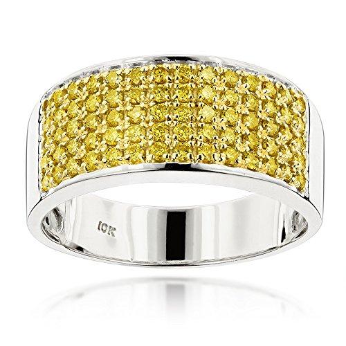 luxurman-designer-10k-gold-yellow-diamond-wedding-band-for-men-white-gold-size-9