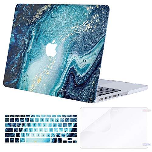 Wave Flüssigkeit (Mosiso Hartschalen-Schutzhülle für MacBook Pro Retina 33 cm (13 Zoll) Mehrfarbig Creative Wave Marble)
