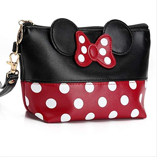 Brieftasche Mode Leder Geldbörse Travel Kit Bogentasche Pu Kosmetische Make-Up Veranstalter Tasche Mit Reißverschluss Für MädchenSchwarz ()