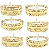 PN Exclusive Decorative Shubh Golden Bangle Tea Light Candles-Set Of 6
