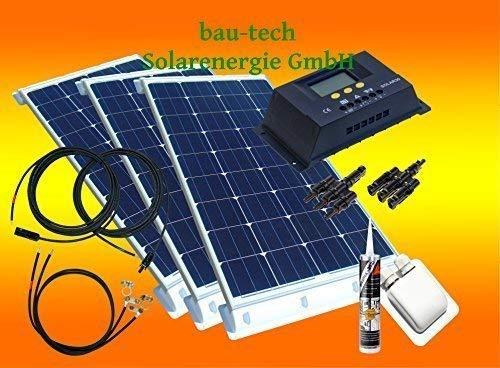 300Watt WoMo Solaranlage Komplettpaket für Wohnmobile, Boote, Camping u.v.m.