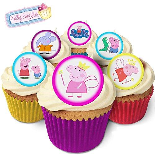 24 Wunderschöne essbare Kuchendekorationen: Peppa Wutz / Peppa Pig (Pig Topper Cupcake Peppa)