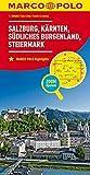 MARCO POLO Regionalkarte Österreich Blatt 2 1:200 000: Salzburg, Kärnten, Steiermark, südliches Burgenland: Wegenkaart 1:200 000 (MARCO POLO Karten 1:200.000)