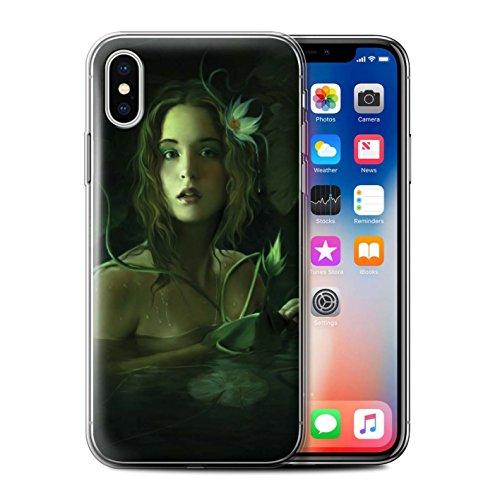Offiziell Elena Dudina Hülle / Gel TPU Case für Apple iPhone X/10 / Feenstaub Muster / Einer mit Natur Kollektion Verstecktes Bad