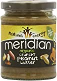 Meridian Organic Crunchy Peanut Butter - No Added Sugar and Salt 280 g (Pack of 6)