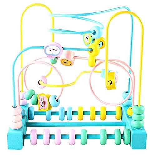 igitale Frucht Spaß um die Perlen Holzkinder männliche und weibliche Baby intellektuelle Stärke 1-3 Jahre alte Kinder Perlen Spielzeug (größe : D) ()