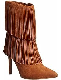 Signora Lady tallone scarpe impermeabili della caviglia Autunno Inverno Booties Scarpe da banchetto Stivali fatti...