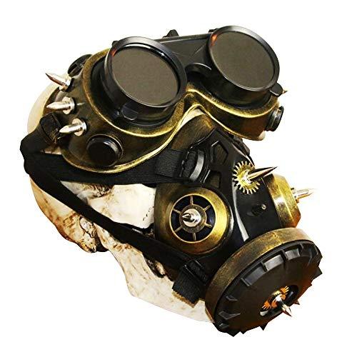 YLYWCG Gasmaske Cosplay, Steampunk-Maske, Steampunk-Maske Männlich, Steampunk Maske Schwarz, Halloween Requisiten/Maskerade Requisiten Herren/Herren Tasche