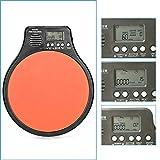 Neewer® 3-en-1Digital LCD pantalla portátil práctica Drum Pad Metrónomo Tambor formación Pad con ajustable ritmo Beat Tempo (naranja)